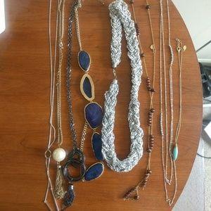 Bundle of 8 statement necklaces